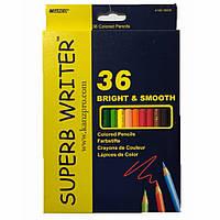 Цветные карандаши 36 цветов  MARCO super writer №4100-36СВ