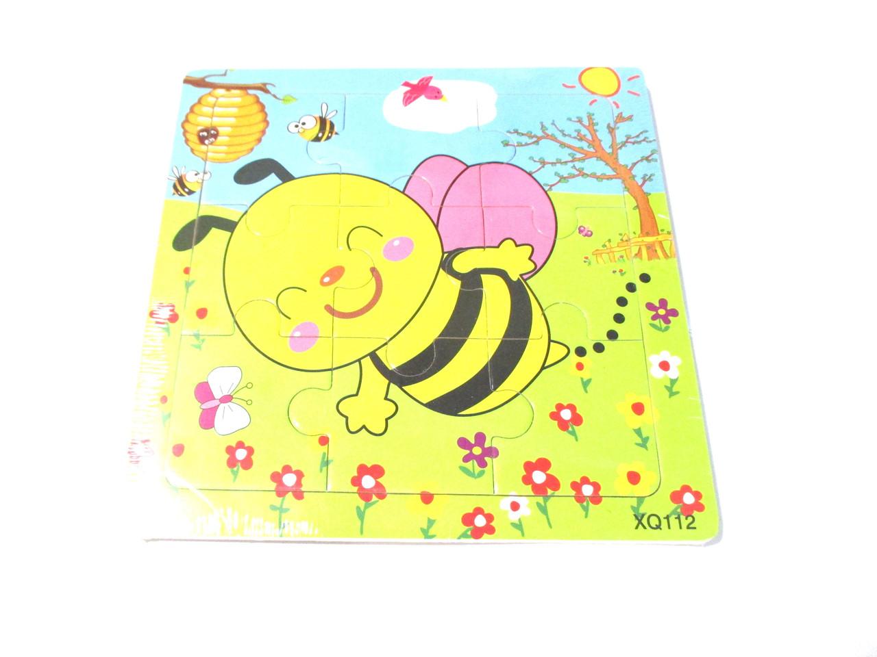 Деревянный пазл Пчелка 14,5*14,5 0407