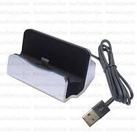 Док станция для зарядки type C, с шнуром USB, черная