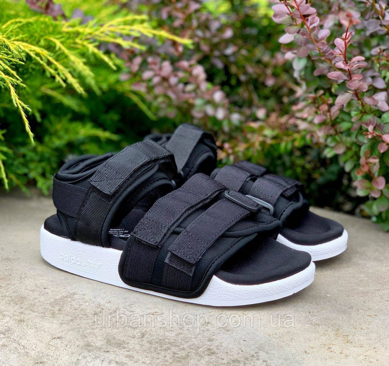 Жіночі сандалії Адідас Adidas Adilette Black. ТОП Репліка ААА класу.