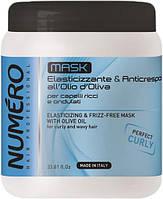 Маска для вьющихся волос с оливковым маслом Brelil Numero Elasticizing Mask 1000 ml