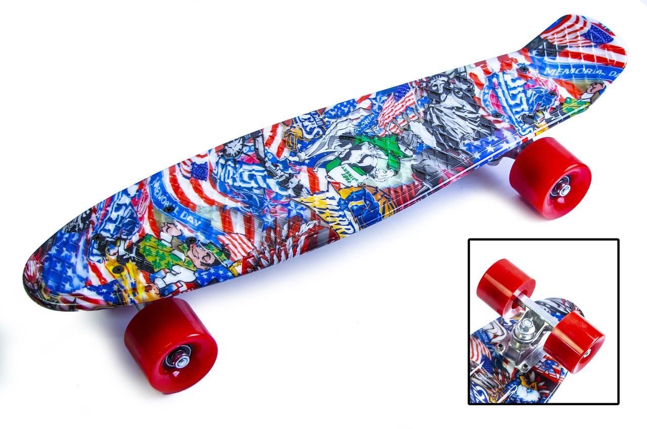 "Скейт Penny Board ""Graffiti"" NBA"