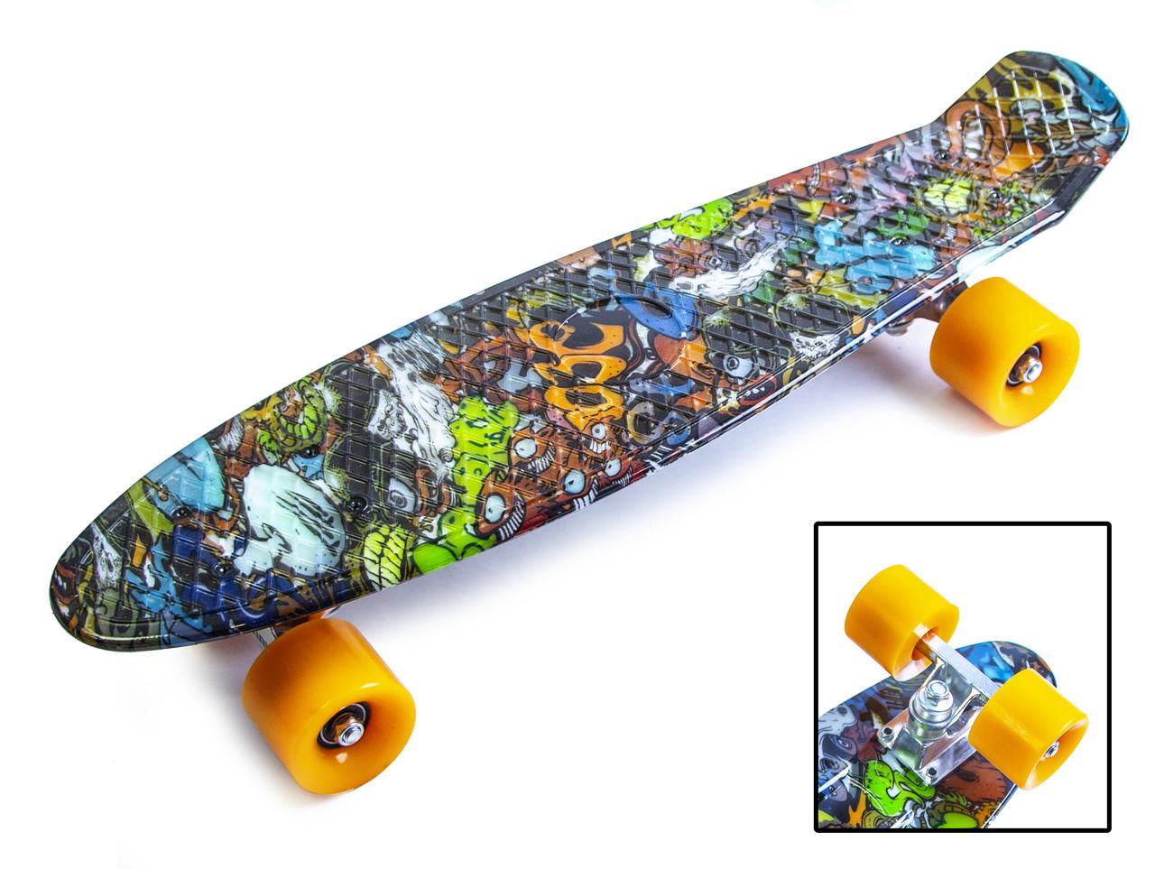 "Скейт Penny Board ""Graffiti"" Monsters."
