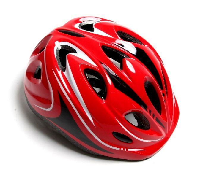 Шлем с регулировкой размера. Красный цвет.