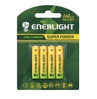 Батарейка ENERLIGHT Super Power (AAА мини-ПАЛЬЧИК) (блистеры) 4 шт. / бл 48 шт. / Уп