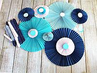 Бумажные веера для декора (цены, размеры см.описание), фото 1
