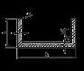 Швеллер алюминий | П образный профиль без покрытия, 80х30х3 мм, фото 2