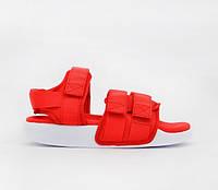 Жіночі сандалії Адідас Adidas Adilette Red. ТОП Репліка ААА класу., фото 1