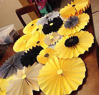 Бумажные веера для декора (цены, размеры см.описание)