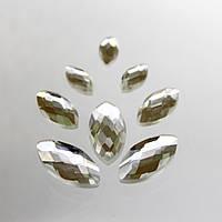 Стразы для инкрустации Лодочка.8х16мм. цвет Crystal(стекло). Цена за 1шт.