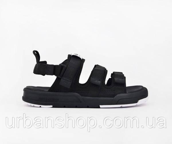 Чоловічі сандалії босоніжки New Balance black/mesh textile sandals. ТОП Репліка ААА класу.