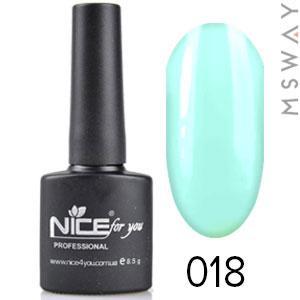NICE Гель-лак черный флакон Тон 018 светло мятный эмаль