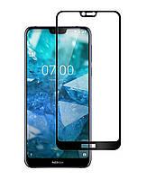 Защитное стекло Full screen PowerPlant для Nokia 7.1, Black