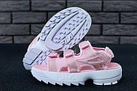 Жіночі босоніжки Fila Disruptor Sandals Pink/White. FILA Disruptor Sandals rose, Сандалі Філа, obuwie damskie.
