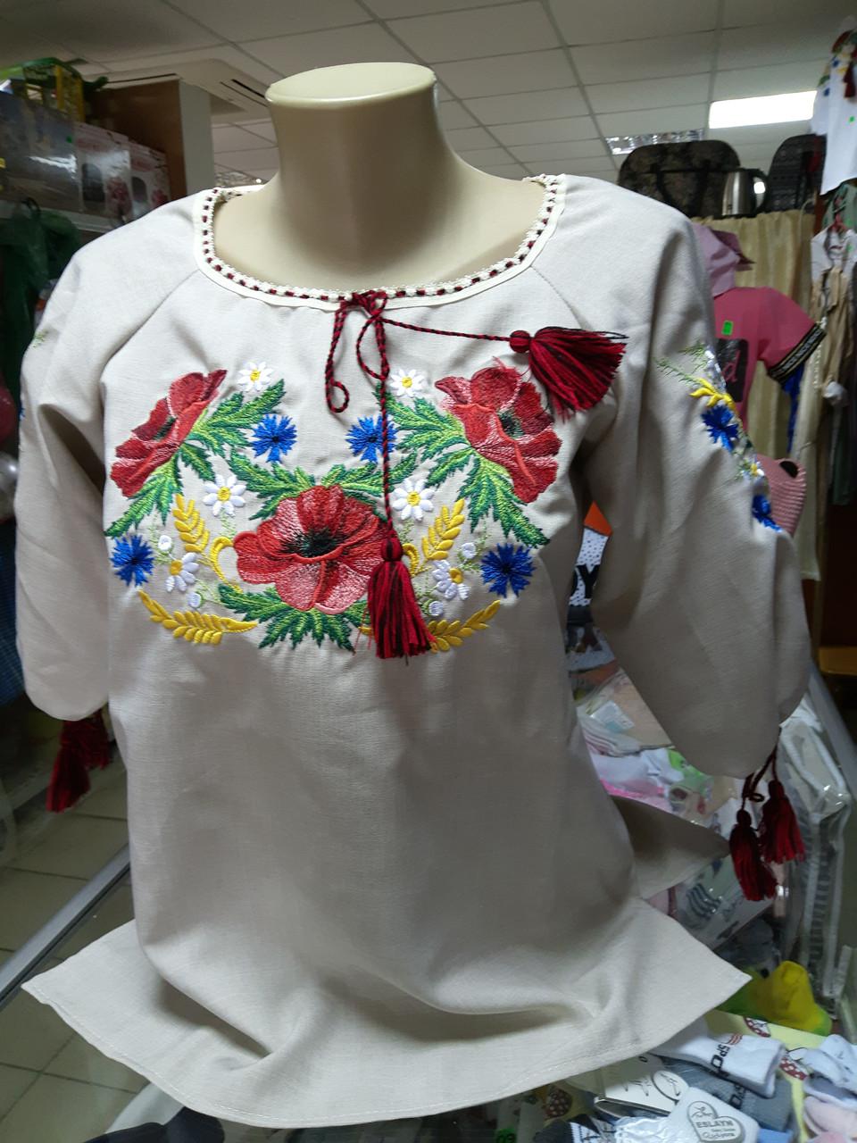 Рубашка женская вышитая Льняная Вышиванка  р.42 - 60