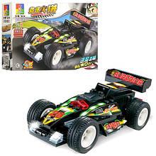 Конструктор C0302A гоночная машина,инер-я,рез.колеса,от 55дет,в кор-ке,23-14-4,5см  (C0302C)