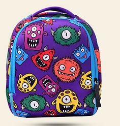 Рюкзак детский Tochang MK 3114 фиолетовый, монстры