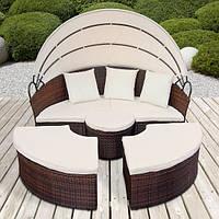 Шезлонг кровать из ротанга , фото 1