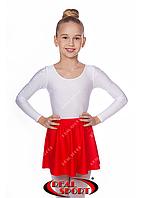 Юбка для гимнастики и танцев красная GM050027 (эластан, р-р 2-М, рост 98-146 см), фото 1