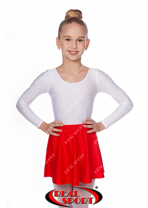 Юбка для гимнастики и танцев красная GM050027 (эластан, р-р 2-М, рост 98-146 см)