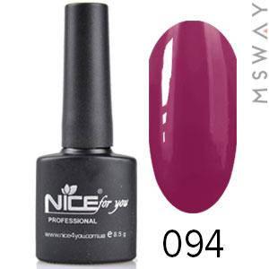 NICE Гель-лак черный флакон Тон 094 сливово фиолетовая эмаль, фото 2