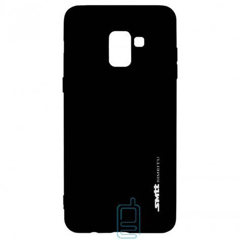 Чехол силиконовый SMTT Samsung A8 Plus 2018 A730 черный, фото 2