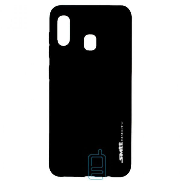Чехол силиконовый SMTT Samsung A20 2019 A205. A30 2019 A305 черный