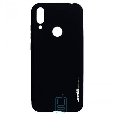 Чехол силиконовый SMTT Huawei Y7 2019 черный, фото 2