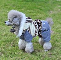 """Теплый комбинезон для собак в стиле ЭТНО - """"Фольклор Севера"""". Одежда для собак."""