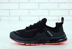 Кроссовки мужские Найк Nike Air Presto Black/Orange. ТОП Реплика ААА класса.