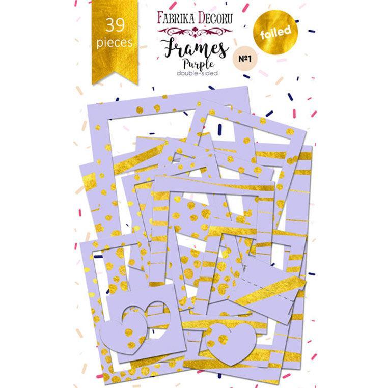 Набір высичек - рамок для декорування Фабрика Декору №1 39шт з фольгуванням FDSDC-0600*_Фиолетовый світлий