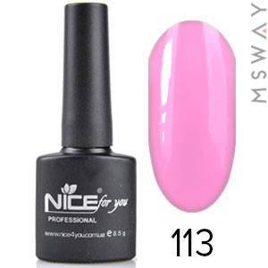 NICE Гель-лак черный флакон Тон 113 флуо ярко розовая эмаль, фото 2