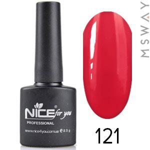 NICE Гель-лак черный флакон Тон 121 дымная красная ягода эмаль