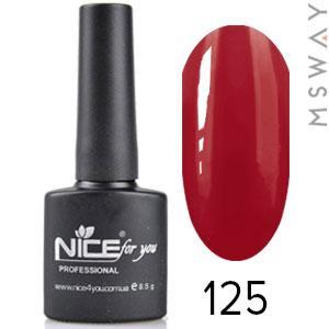 NICE Гель-лак черный флакон Тон 125 темно ягодная эмаль