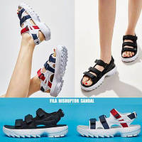 Жіночі босоніжки Fila Disruptor Sandals Black/White. FILA Disruptor Sandals, Сандалі Філа, obuwie damskie.