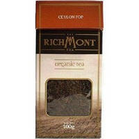 Чай черный листовой органический Ceylon FOP (Flowery Orange Pekoe) Richmont, 100г