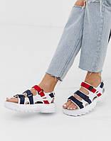 Жіночі босоніжки Fila Disruptor Sandals Blue Red White. FILA Disruptor Sandals, Сандалі Філа, obuwie damskie.