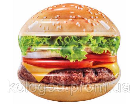 Пляжный Надувной Матрас Плот Intex 58780 Гамбургер Размер 145 х 142 см