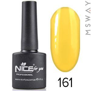 NICE Гель-лак черный флакон Тон 161 флуо ярко оранж апельсиновая эмаль