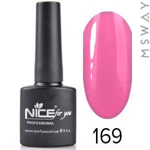 NICE Гель-лак черный флакон Тон 169 нежно розовая эмаль