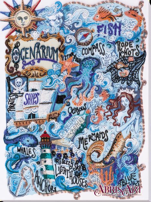 Набор для вышивки бисером на холсте Тайны океана