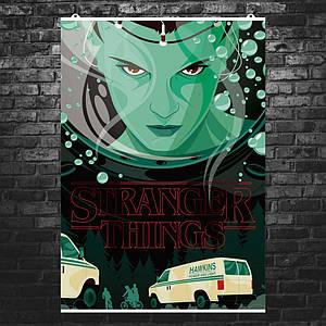 "Постер ""Stranger Things 1"", Очень Странные Дела 1, скорая помощь. Размер 60x43см (A2). Глянцевая бумага"