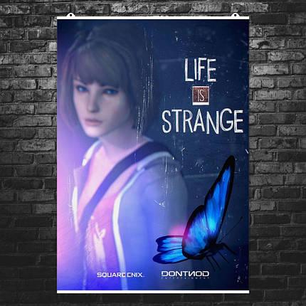 """Постер """"Жизнь - странная штука"""", Life Is Strange, бабочка. Размер 60x42см (A2). Глянцевая бумага, фото 2"""