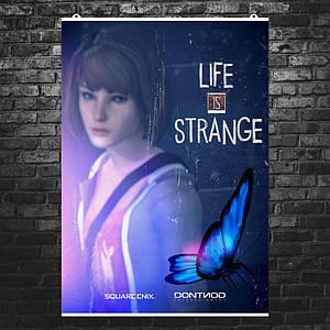 """Постер """"Жизнь - странная штука"""", Life Is Strange, бабочка. Размер 60x42см (A2). Глянцевая бумага"""