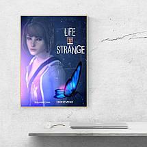 """Постер """"Жизнь - странная штука"""", Life Is Strange, бабочка. Размер 60x42см (A2). Глянцевая бумага, фото 3"""