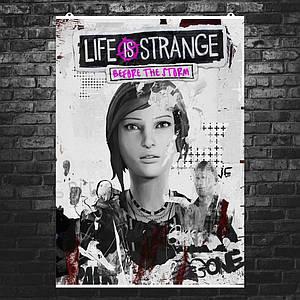 """Постер """"Жизнь - странная штука"""", Life Is Strange, ч\б коллаж. Размер 60x42см (A2). Глянцевая бумага"""