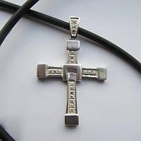 4009 серебряный крест Доминика Торетто крест Вина Дизеля 925 проба