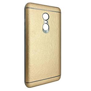Чехол-накладка DK-Case пластик с кожей для Xiaomi Redmi Note 4 (gold)