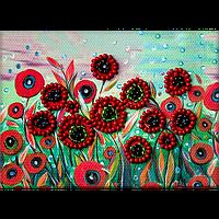 Магнит для вышивания бисером Цветы