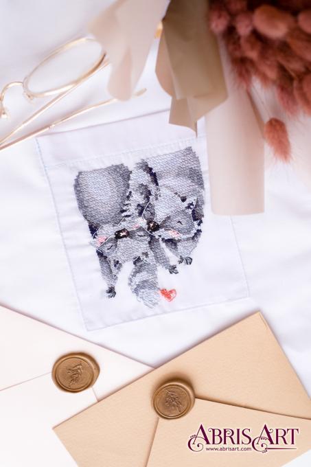 Набор для вышивки крестом на одежде На кончике хвоста